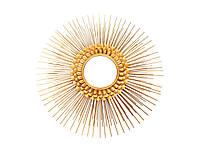 Металеве настінне дзеркало Augustus 100 в рамі кольору золота
