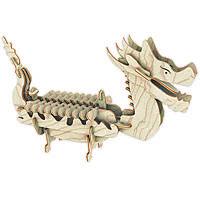 Игрушки из дерева Мир деревянных игрушек 3D пазл Лодка Дракона П085а, КОД: 2436665