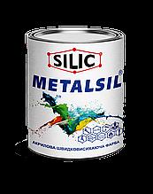 Акриловая краска для металла с молотковым эффектом Силик Украина Metalsil 1кг Коричневая MLSkor, КОД: 1716264