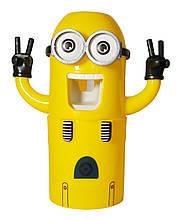 Дозатор для зубной пасты MHZ Миньон Желтый 006403, КОД: 949840