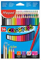 Карандаши цветные Maped Color Peps Classic 36 цветов MP.832017, КОД: 2447101