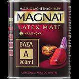 Латексная матовая краска для стен и потолков MAGNAT База А БЕЛАЯ 9л, фото 2