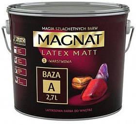 Латексная матовая краска для стен и потолков MAGNAT База А БЕЛАЯ 9л