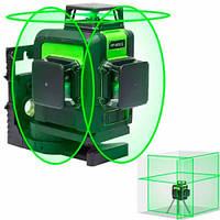 Лазерный уровень, нивелир 12 линий, 3 плоскости 360град, АКБ Huepar 903CG, 102446, фото 1