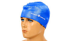 Шапочка для плавания MadWave METAL M053505 Синий, КОД: 1915592