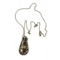Аромакулон с камнями Лист бронзовый 6х3х2 см 21815A, КОД: 1368292