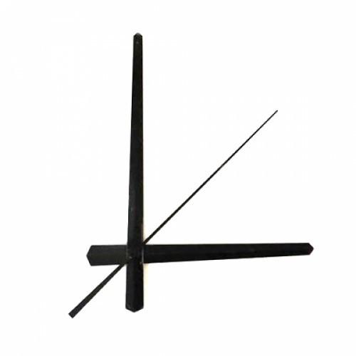 Стрелки для часов, часового механизма, комплект из 3 стрелок, черные длинные, 103187