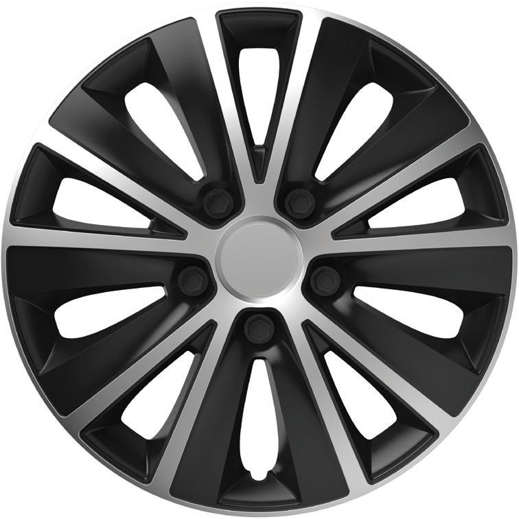 Колпаки R13 Elegant Rapid Silver&Black