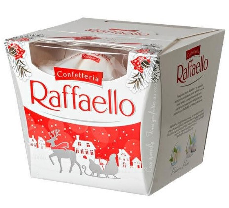 Конфеты Raffaello Merry Christmas14 штук Ferrero 150 г Польша
