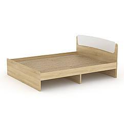 Кровать Классика 140 Компанит дуб сонома + белый, КОД: 2350562