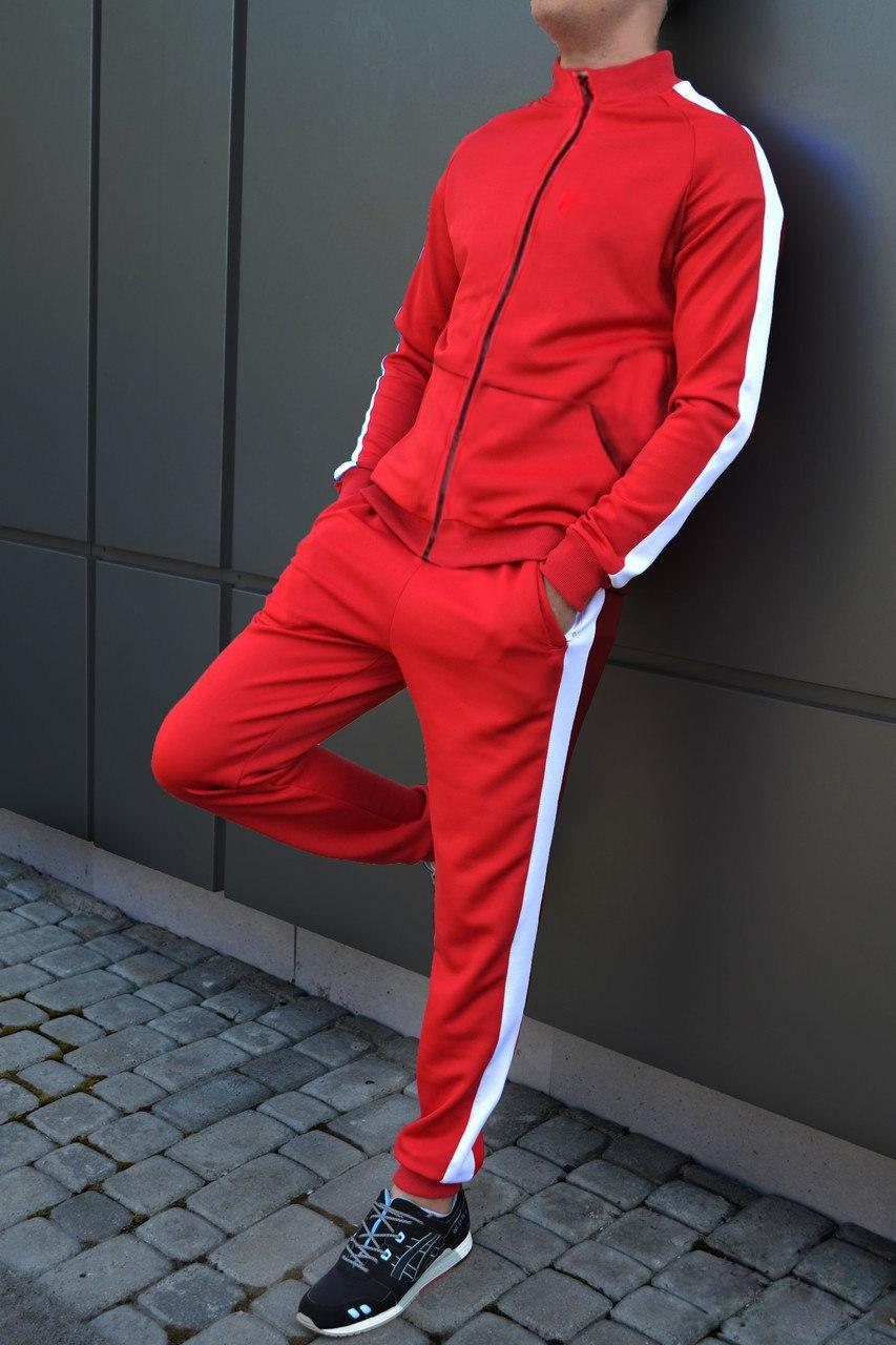 Мужской спортивный костюм дайвинг красный