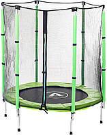 Батут Atleto 140 см с сеткой зеленый Для детей, спорта, отдыха