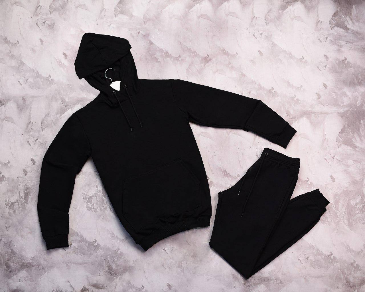 Мужской спортивный костюм Кенгуру черный