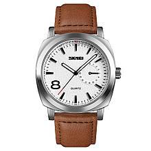 Часы Skmei 1466BOXLSIBN Silver Brown Leather Belt BOX 1466BOXLSIBN, КОД: 2354641