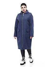 Женское пальто ORIGA Аллегра 48 Джинс, КОД: 2371983