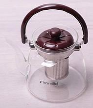 Чайник заварочный Kamille Orlate 1400 мл стеклянный со стальным съемным ситечком psgKM-1611, КОД: 2369678