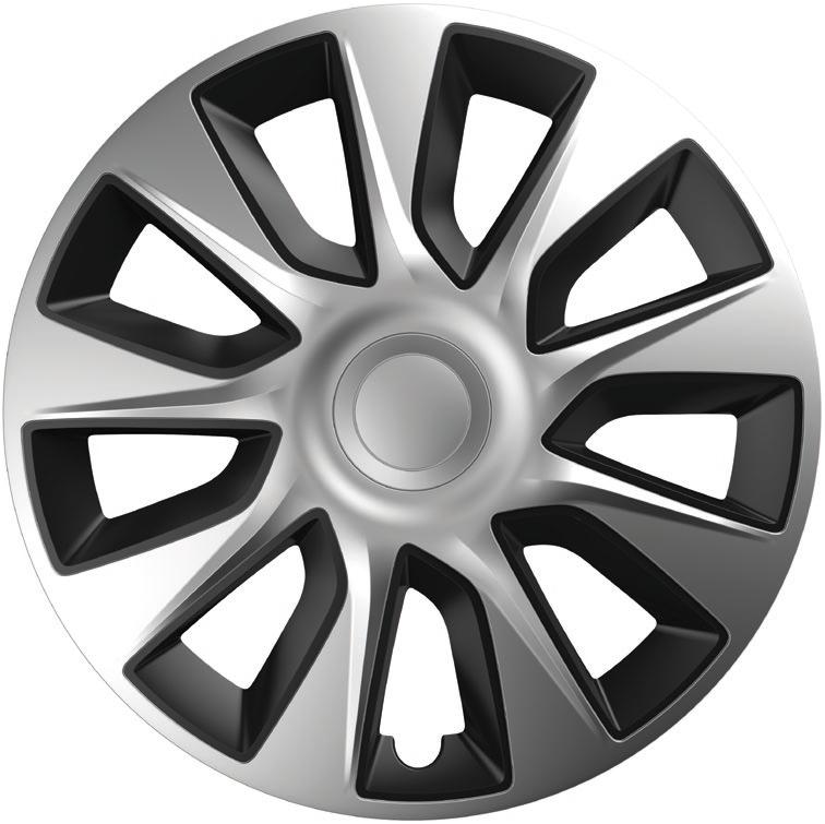 Ковпаки R14 Elegant Stratos Silver&Black
