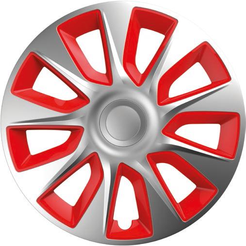 Колпаки R14  Elegant Stratos  Silver&red