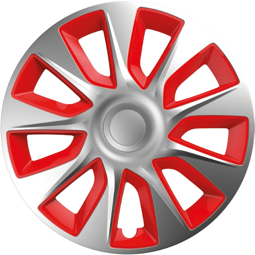 Ковпаки R14 Elegant Stratos Silver&red