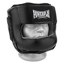 Боксерський шолом тренувальний PowerPlay 3067 з бампером PU + Amara S Чорний PP3067SBlack, КОД: 1138999