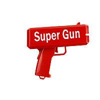 Пистолет стреляющий деньгами Super Gun Красный hj123473, КОД: 1528743
