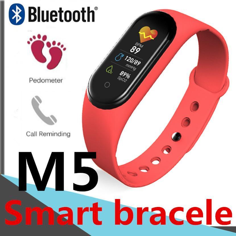 Фитнес браслет M5 в стиле Mi Band 5  (Smart Band)  Красный Умный браслет