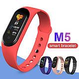 Фитнес браслет M5 в стиле Mi Band 5  (Smart Band)  Красный Умный браслет, фото 2