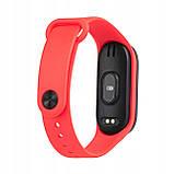 Фитнес браслет M5 в стиле Mi Band 5  (Smart Band)  Красный Умный браслет, фото 4