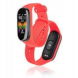 Фитнес браслет M5 в стиле Mi Band 5  (Smart Band)  Красный Умный браслет, фото 3