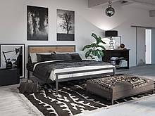 Металлическая кровать Tenero Герар 1200х2000 Черный бархат 100000275, КОД: 1555686