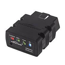 Сканер-адаптер KONNWEI KW902 для диагностики автомобиля OBDII Bluetooth 3.0 1163-8574, КОД: 1322558