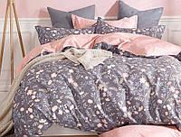 Семейный набор хлопкового постельного белья Черешенка из Бязи Gold 15587AB, КОД: 2401040