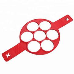 Силиконовая форма для приготовления оладий и омлета VOLRO 40х23.5х1.5 см Red vol-174, КОД: 1745267