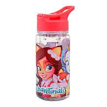 Бутылка для воды YES c блестками Enchantimals 280 мл Красный 706882, КОД: 1563735