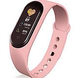 Фитнес браслет M5 в стиле Mi Band 5 (Smart Band) Розовый Умный браслет, фото 3