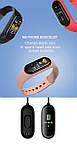 Фитнес браслет M5 в стиле Mi Band 5 (Smart Band) Розовый Умный браслет, фото 9