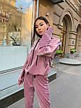 Жіночий велюровий спортивний костюм з худі і капюшоном, штани на манжетах 34051128, фото 5