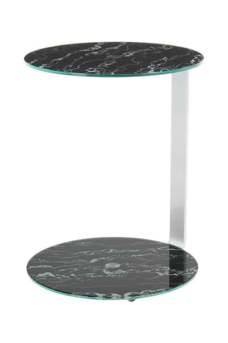 Приставной стол Quentin 525 Серебристый / черный, Серебристый; черный