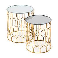 Набори из 2-х столиков Timba 610 Светло-серый / темно-серый, Светло-серый; темно-серый, фото 1