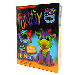 Набор креативного творчества Danko Toys AIR CLAY FLUORIC 4 цвета AICL-FL-01, КОД: 1318292