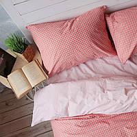 Комплект постельного белья Хлопковые Традиции Двухспальный 175x215 Бело-розовый PF043двуспальный, КОД: 740621
