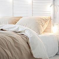 Комплект постельного белья Хлопковые Традиции семейный 200x220 Бежево-молочный PF050семейный, КОД: 740653