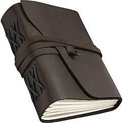 Кожаный блокнот ручной работы COMFY STRAP В6 Темно-коричневый NJ-0O2S-9EAG, КОД: 1237480
