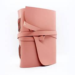 Кожаный блокнот COMFY STRAP А5 14.8 х 21 х 4 см В линию Пудровый 050, КОД: 1549676