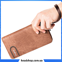 Мужской кошелек клатч портмоне барсетка Baellerry S1514 business Cofee, фото 2