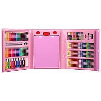 Набір для малювання SUNROZ Mega Art Set з мольбертом Рожевий 5516, КОД: 1389152