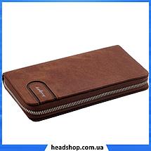 Мужской кошелек клатч портмоне барсетка Baellerry S1514 business Cofee, фото 3