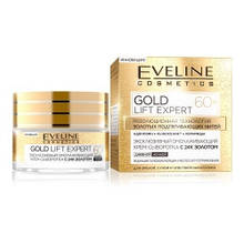 Дневной ночной крем для лица Eveline Cosmetics сыворотка с 24К золотом Gold Lift Expert 60+ 50 мл, КОД: