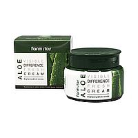 Успокаивающий крем для лица с алоэ Farmstay Visible Difference Moisture Cream Aloe 100 мл 8809636, КОД: