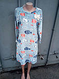 Домашнее теплое платье, пижама, махра, фото 4